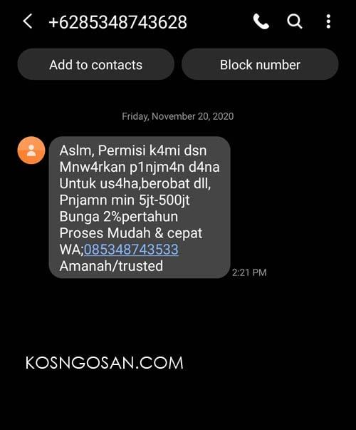 cara blokir sms iklan samsung