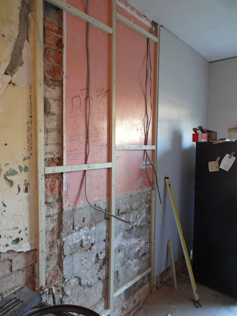 battening plasterboard to wall