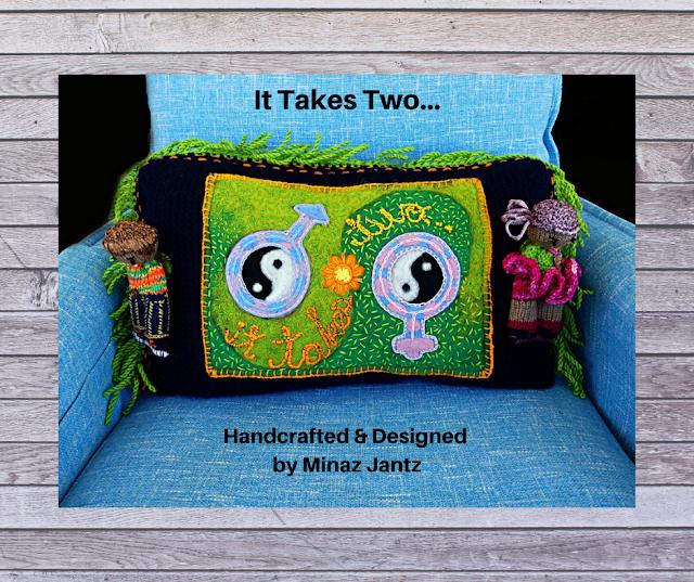 It Takes Two... Proverb Pillow Talk by Minaz Jantz