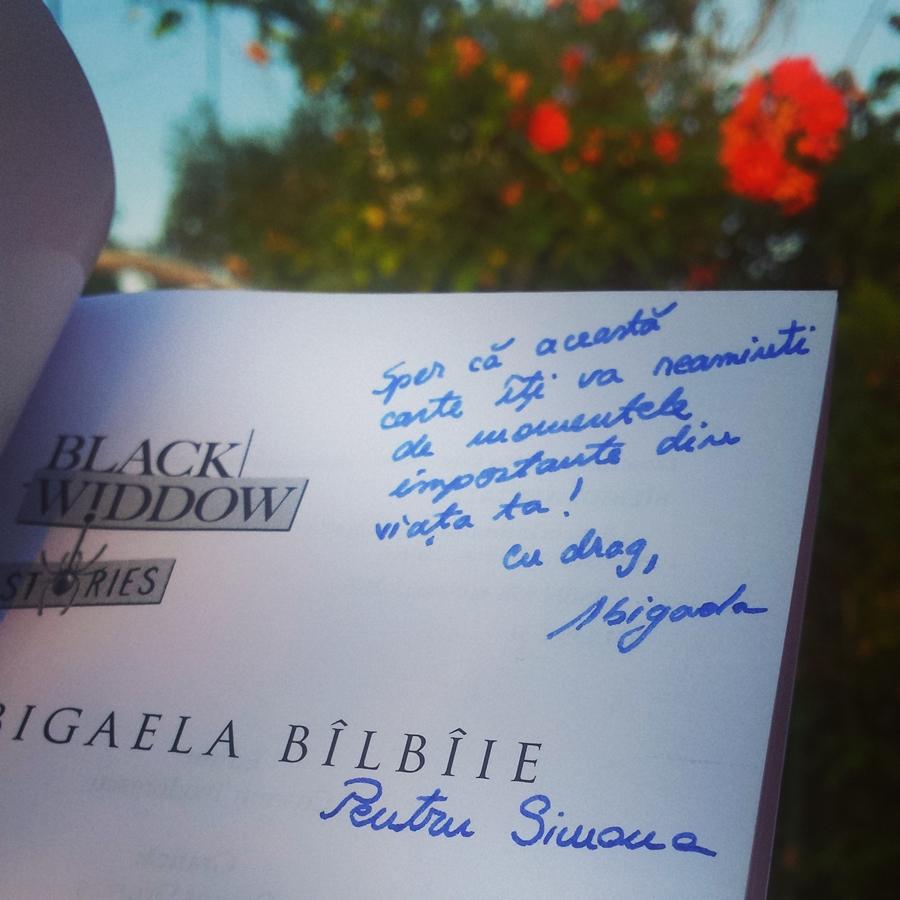 autograf carte fata criminalului abigaela bilbiie