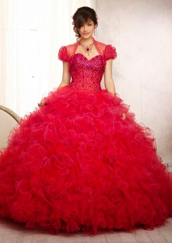 cfde18848 Atractivos vestidos de fiesta tradicionales para quince años 2015 ...