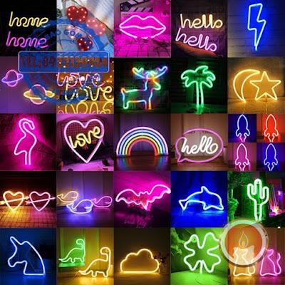 Đèn led neon trang trí nhiều hình