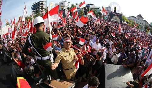 Deklarasi Nusantara Bersatu di Anjungan Pantai Losari