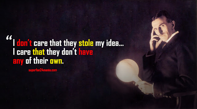 I don't care that they stole my idea... I care that they don't have any of their own.