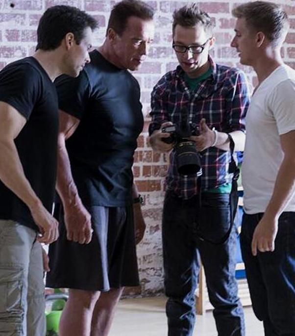 Arnold pe platourile de filmare pentru Terminator 5: Genesis