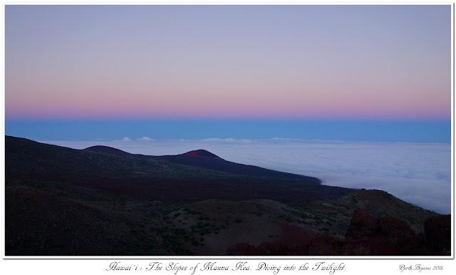 Hawai'i: The Slopes of Mauna Kea. Diving into the Twilight.