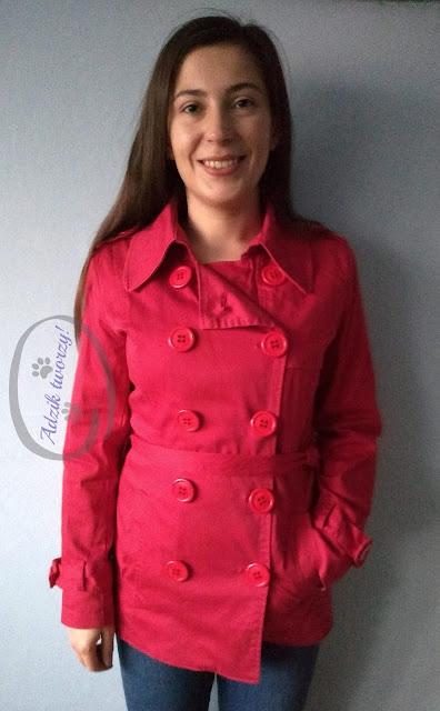 Adzik tworzy - za długi płaszcz jak skrócić DIY instrukcje