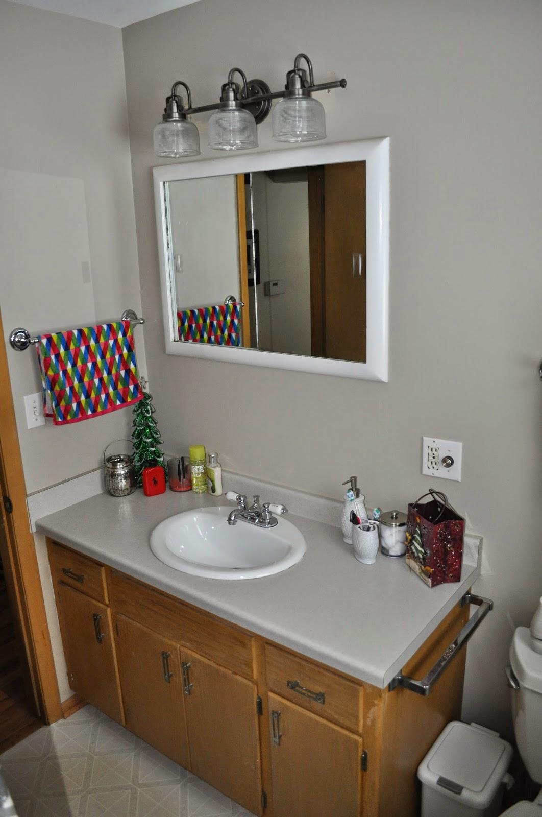 Carri us home bathroom updates - Eggshell paint in bathroom ...