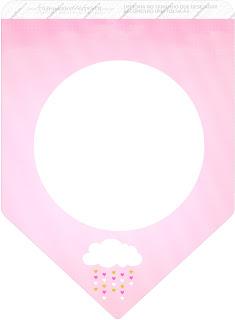 Banderines de Lluvia de Bendiciones para Nena para imprimir gratis.