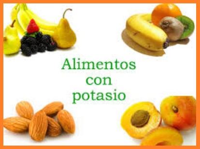Dieta rica en potasio y calcio