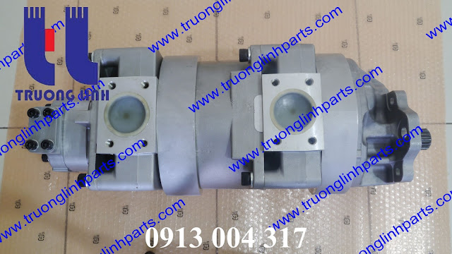 Bơm thủy lực bánh răng xe xúc lật  705-55-43000  máy xúc lật WA480-5, WA470-5, WA450-5