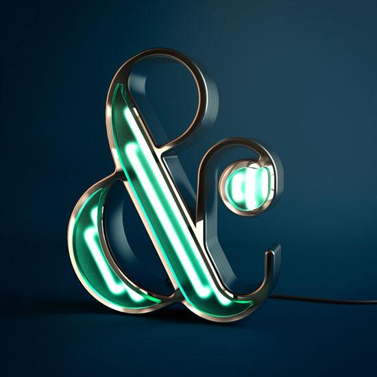 seni kreatif hanya dengan basic karakter ampersand