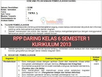 Download RPP Daring 1 Lembar SD/MI Kelas 6 Tema 5 Semester 1