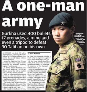 Gurkha hero in Afghanistan terror war