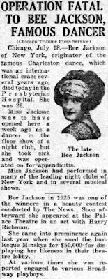 Bee Jackson Dead