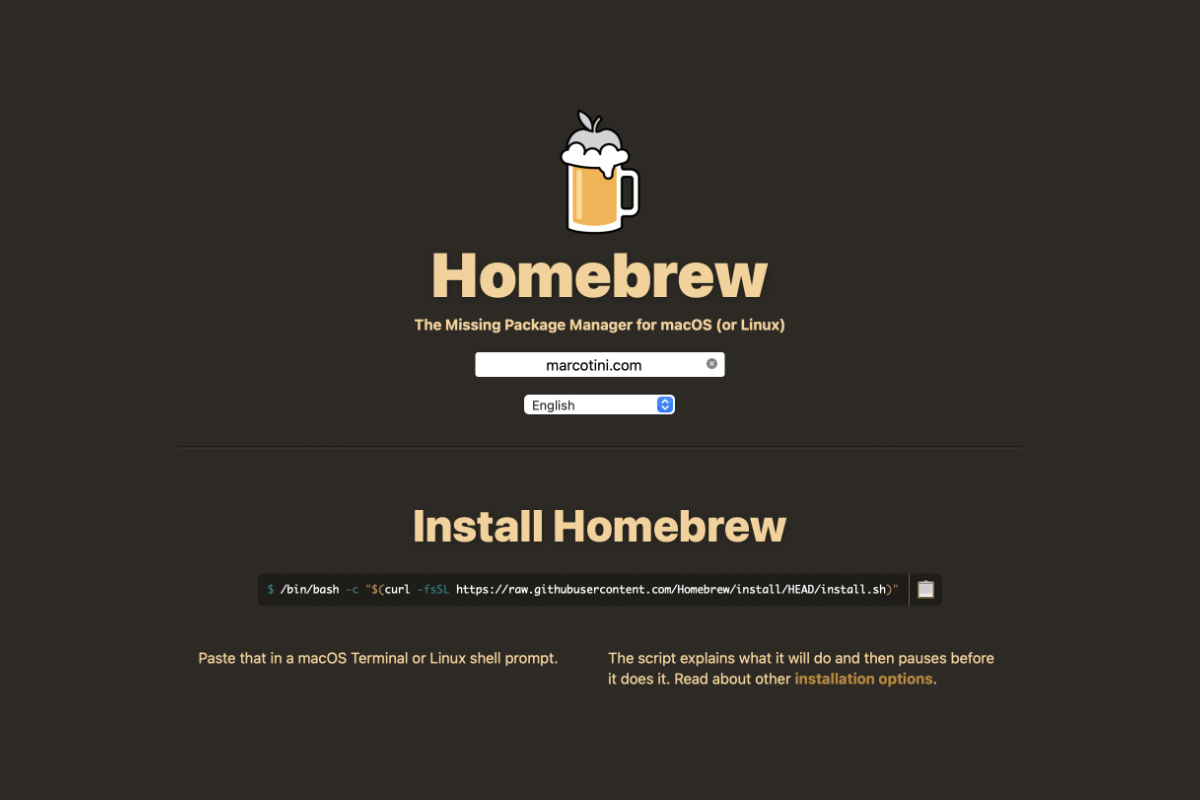 Homebrew è compatibile con Apple M1