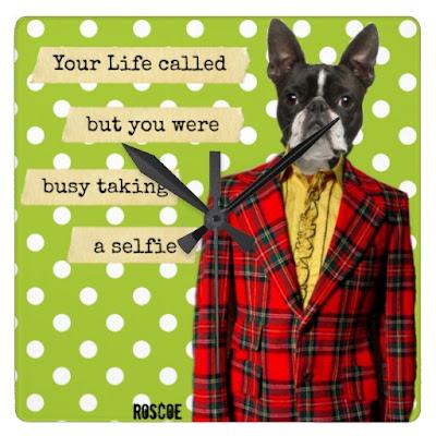http://www.zazzle.com/life_called_humorous_selfie_clock-256962885194725145