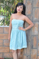 Sahana New cute Telugu Actress in Sky Blue Small Sleeveless Dress ~  Exclusive Galleries 038.jpg