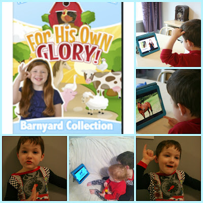 For His Own Glory Barnyard Collection Christian based ASL video learning program