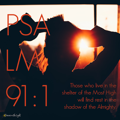 Those who live in the shelter of the Most High will find rest in the shadow of the Almighty. Psalm 91:1