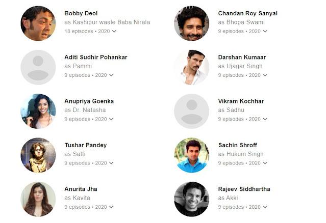 Aashram Season 3 Web Series all cast