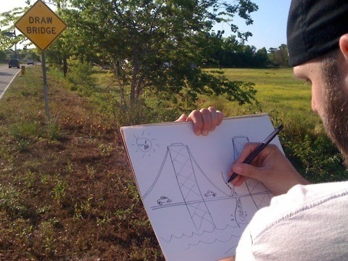 Funny Draw Bridge Sign Picture