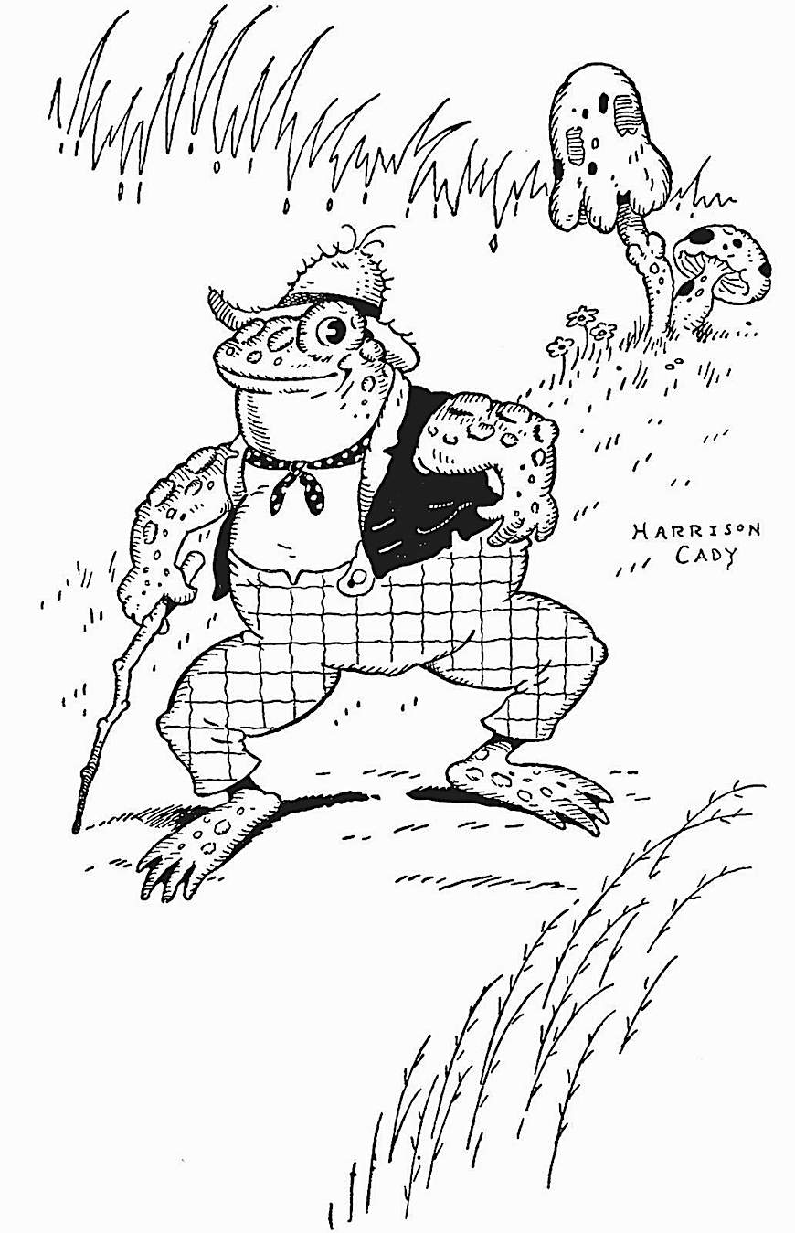 Harrison Cady illustration of a walking toad