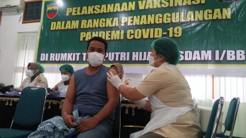 Kodam I/BB - Poldasu Kompak Ajak Masyarakat Vaksinasi Covid-19