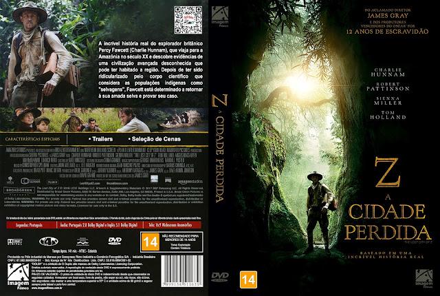 Capa DVD Z: A Cidade Perdida [Custom]