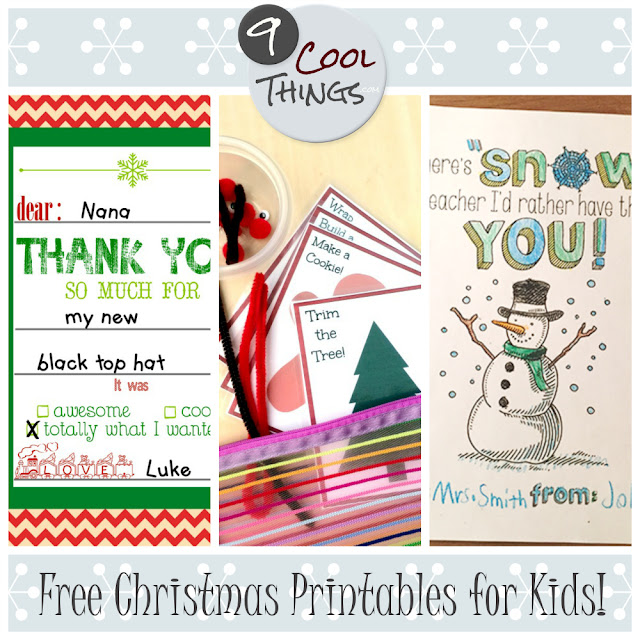 9 cool free printable Christmas activities for kids!  |  9CoolThings.com