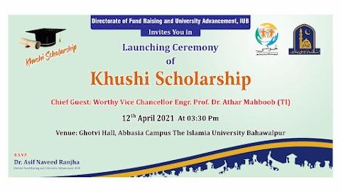 Khushi Scholarship Program for IUB students