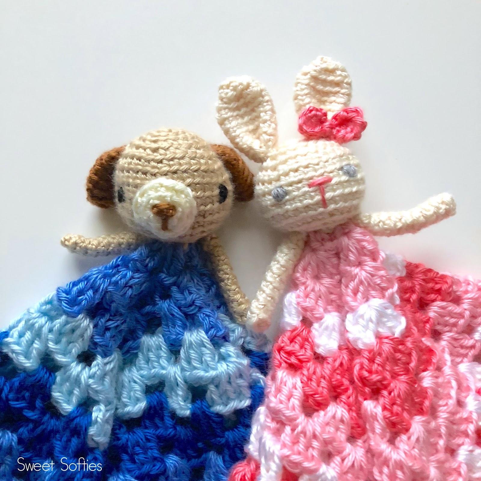 Puppy & Bunny Loveys! (Free Crochet Pattern) - Sweet Softies ...