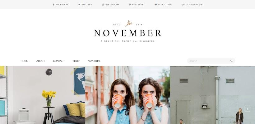 November Free Blogger Template