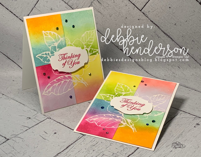 technique, color blocking, stampin up, paper crafting, debbie henderson, debbies designs, card, cards, greeting cards