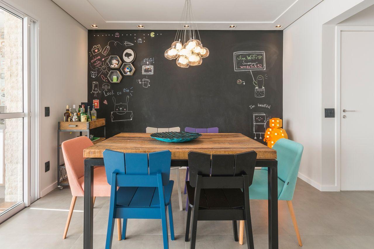 8 Dicas Para Ter Uma Sala De Jantar Gostosa Jeito De Casa Blog  -> Decoracao Sala De Jantar Azul