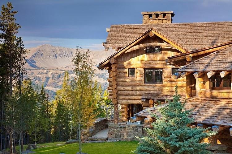 Niesamowity dom z bali w Montanie, wystrój wnętrz, wnętrza, urządzanie domu, dekoracje wnętrz, aranżacja wnętrz, inspiracje wnętrz,interior design , dom i wnętrze, aranżacja mieszkania, modne wnętrza, styl klasyczny, styl rustykalny, dom drewniany, chata w górach,