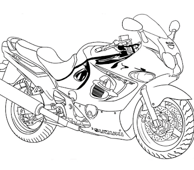 Gambar mewarnai sepeda motor - 6