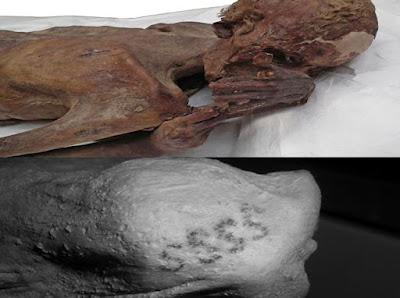 أقدم وشم فى العالم على ذراع مومياء مصرية فى المتحف البريطانى