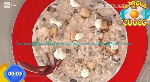 Risotto al radicchio con pere e caprino ricetta Ricchebono da Prova del Cuoco