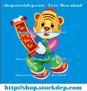 Vector con hổ vàng miễn phí file corel
