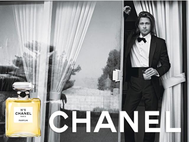 Brad Pitt Chanel Nº 5
