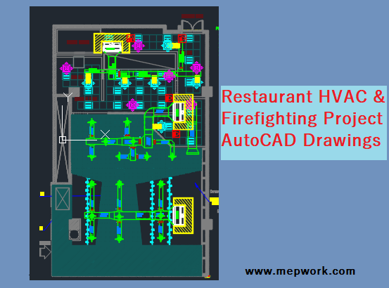 Restaurant HVAC & Firefighting Project - AutoCAD Drawings | Hvac Drawing Images Free Download |  | MEP WORK