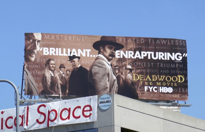 Deadwood Movie Emmy consideration billboard