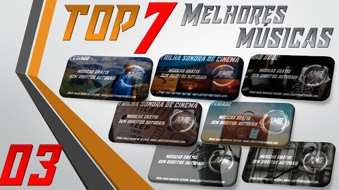 As 7 Melhores Músicas #03 Grátis free use Logo Tipo Designer