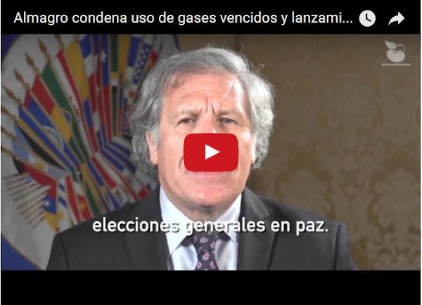 Luis Almagro rechaza represión en Venezuela