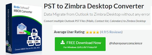 PST to Zimbra Converter free