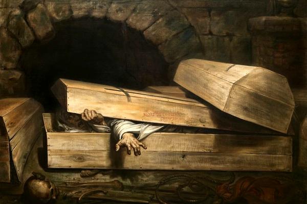L'enterrament precipitat (Antoine Wiertz)