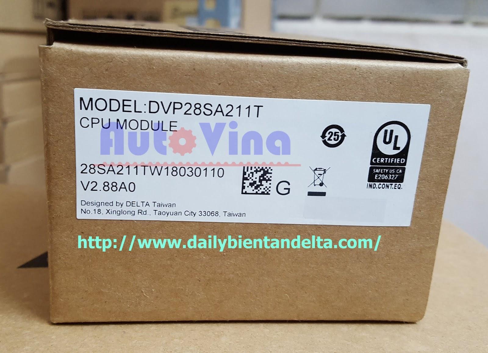 Đại lý bán PLC Delta DVP28SA211T hàng mới fullbox đầy đủ vỏ hộp, bảo hành chính hãng Delta tại Việt Nam