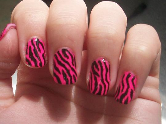 Zebra Nail Designs - Acrylic Nails |Tattoos Photos Design ...