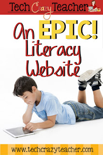 Easy start guide for using the literacy website and app Epic!